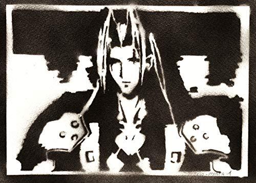 Póster Final Fantasy Sephiroth Grafiti Hecho a Mano - Handmade Street Art - Artwork