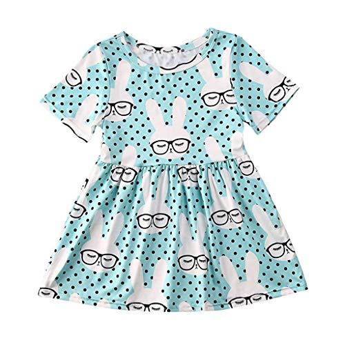 LUNE BéBé Fille Manche Courte Mignon Dot Fleurs Imprimé Tulle Party Princess Dress VêTements