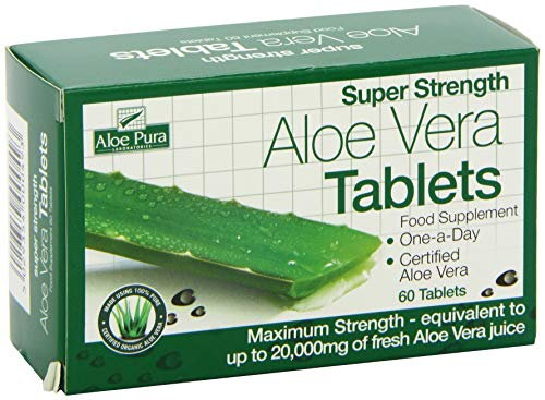 Super Strength Aloe Vera Tablets  20,000mg - 60