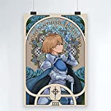 Juego Novela Sword Art Online Póster de Lienzo Comic Impreso Decoración Pintura Sala de Estar Niño Pared Moderna Decoración para el hogar 50x70cm (19.68x27.55 in) Q-10