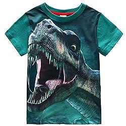 2. Frogwill Boys Dinosaur Short Sleeve T-Shirt