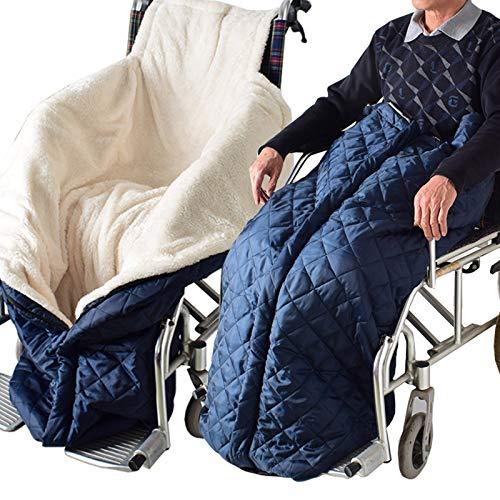 LYY Leichte Winter-Rollstuhl Decke Beine Füße Wärmer-Abdeckung Windschutz-Schlafsack mit Plüsch-Fleece-Futter für Patienten Elders für Indoor Outdoor