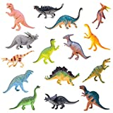 "BOLEY Monster (15-Pack) Large 7"" Toy Dinosaurs Set - Enormous Variety of Authentic Type Plastic Dinosaurs - Great as Dinosaur Party Supplies, Birthday Party Favors, and More"