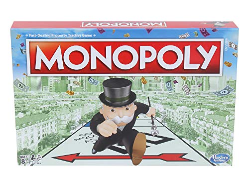 MONOPOLY Board Game (Multicolor) for Families and Kids Ages 8 and Up, Classic fantasy Gameplay