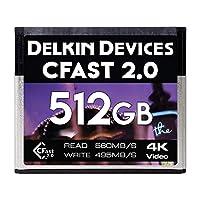 Delkin 512GB CFast 2.0 シネマメモリーカード 495MB/s Read DDCFST560512