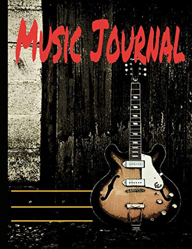 Music Journal: Black and White Musical Notes Music Manuscript Notebook with Staff Paper - Blank Sheet Music Notebook - Music Journal - ... Songwriters, Teachers (140 Pages 8.5 x 11)