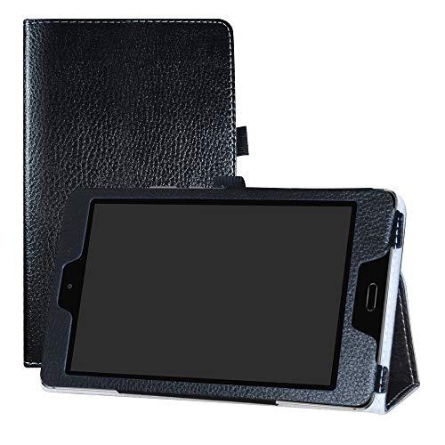 LFDZ Huawei MediaPad M3 Lite 8.0 Hülle, Schutzhülle mit Hochwertiges PU Leder Tasche Hülle für Huawei MediaPad M3 Lite 8.0 Tablet,Schwarz
