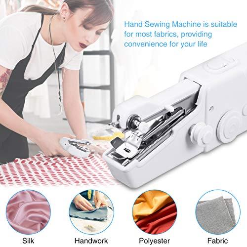 Handheld Sewing Machine, LIUMY Portable Sewing Machine, 15PCS Mini Sewing Machine, Small Sewing Machine for Quick Repairing(White)