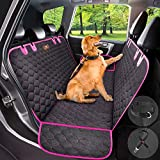 Manificent Dog Car Seat Cover Protector Thicken, Waterproof Nonslip Pet Seat Cover, Hammock Heavy Duty Scratch-Proof Back Seat Cover Mattress for Dogs Fits Most Cars Trucks SUVs - Pink