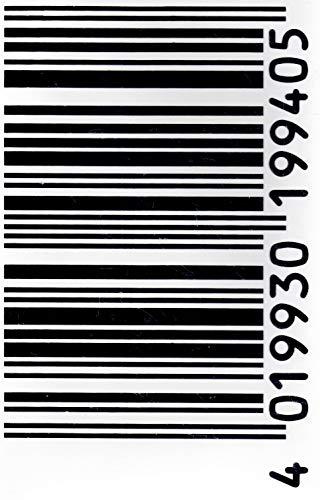 Barcode Sticker ATV Motocross Aufkleber Folie 1 Blatt 270 mm x 180 mm wetterfest