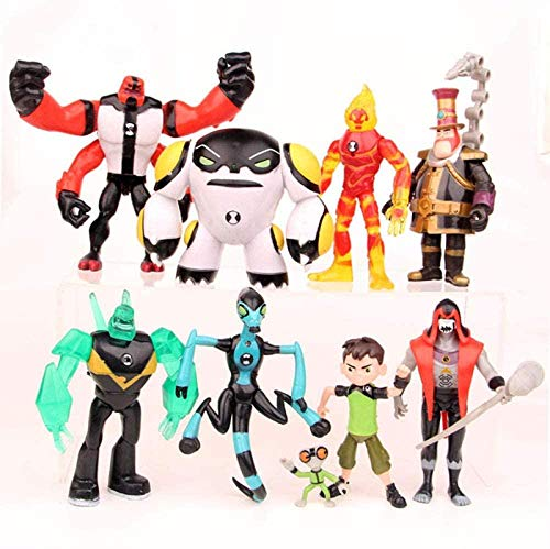 cheaaff Nobranded 9Pieces Ben 10 Protector of Earth Family Action Figures Brinquedos Toys