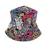JONINOT Bufanda protectora para el cuello, máscara a prueba de viento, tema musical, instrumentos...