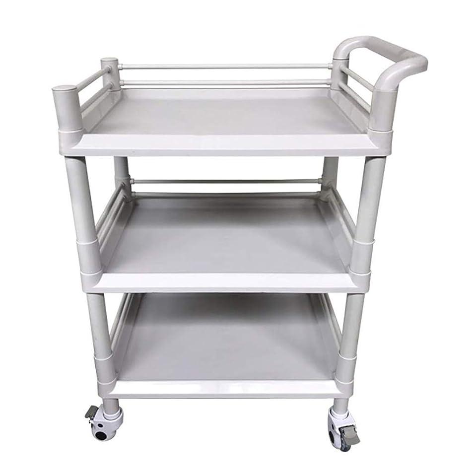 無秩序ローマ人ロッジ美容院のカート、美容ベビーカーの棚のABSプラスチック病院の多目的用具のカートの灰色、3つのサイズは購入することができます (色 : 54*37*98cm)