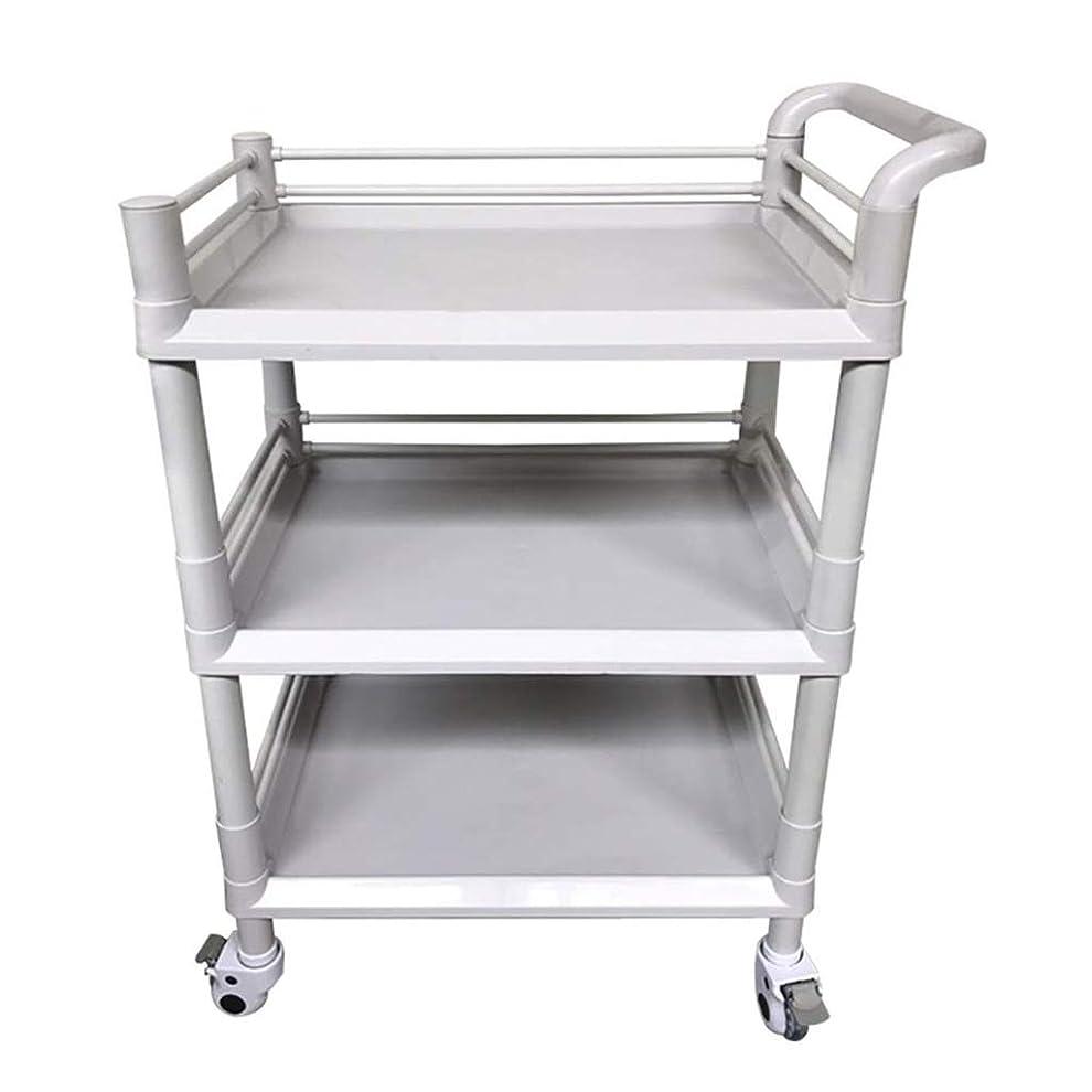 依存グリーンランド球体美容院のカート、美容ベビーカーの棚のABSプラスチック病院の多目的用具のカートの灰色、3つのサイズは購入することができます (色 : 54*37*98cm)
