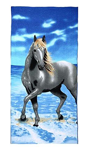 Black Temptation Sport Accueil de Serviettes de Bain/Serviettes de Plage-Pferd