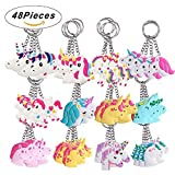 Libershine Llavero Unicornio 48 Piezas Rainbow Unicorn Keyring Holder Unicorn...