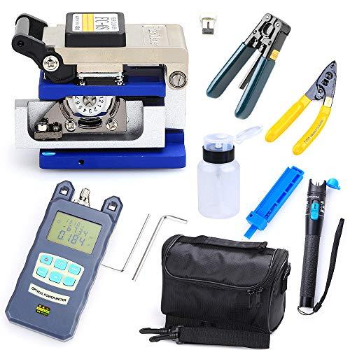 Fiber Optic FTTH Werkzeug Kit FC-6S Optischer Cleaver Power Meter Visual Finder