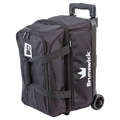 Brunswick Blitz Double Roller Bowling Bag, Black