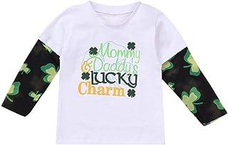 تي شيرت عيد القديس باتريك للأطفال الأولاد والبنات ملابس البرسيم الوشم تي شيرت الأم والأبي لاكي سحر قميص أزياء المحملات
