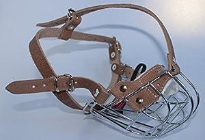 NEW Muselière pour chien métallique solide en métal pour Boxer et autres chiens avec son Museau Court