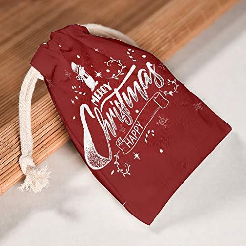 Lind88 12 Stuks Kerstboom Nieuwjaar Opbergtassen - Ontwerp Bedrukte Ademende Speelgoedtassen voor Nieuwjaar Verjaardag Gift Wrap Bag