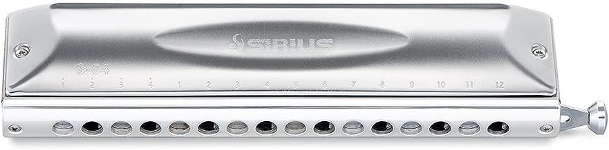 Suzuki S-64C Sirius Chromatic 16-Hole 64-Note Harmonica, Cross Alignment
