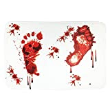 Bamboo's Grocery Blood Foot Bath Mat, Entrance Doormat, Halloween Decoration, 15.7 x 23.6 Inches