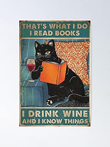 Situen Póster de vino con bebida de gato, para decoración de oficina, dormitorio, aula, gimnasia y bestias lgbt, vacaciones, gran arte de pared inspirador