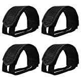 2 Pairs Bicycle Feet Strap Pedal Straps for Fixed Gear Bike (Black)