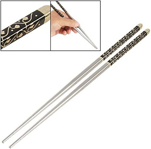 wholesale Mallofusa online sale Pair Chinese online sale Chopstickss Stainless Steel Metal Chopstickss Square Elegant Pattern outlet sale