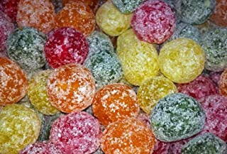 Mega Sour Assorted Fruit Fizz Bombs (extremely sour) 500 gram bag (1/2 kilo) by Barnetts
