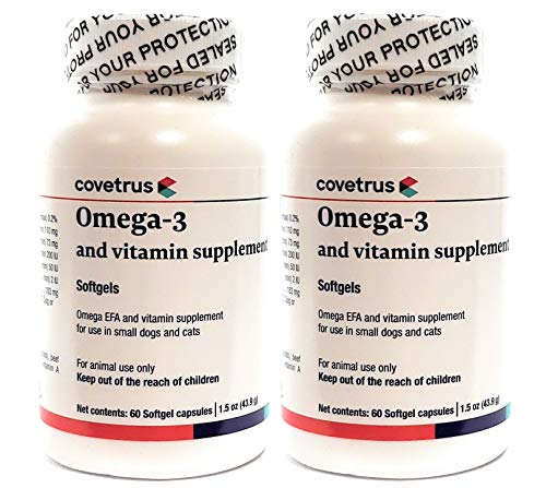 Butler-Schein Omega Tri-V Supplement for Cats and Dogs up to 30 lbs  60 Softgel Capsules  Pack of 2