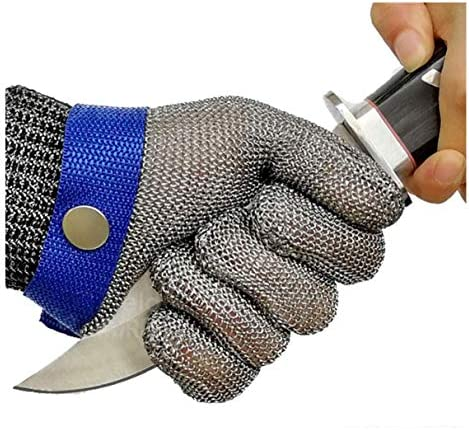Schwer Cut Resistant Gloves Stainless Steel Wire Metal Mesh Butcher Safety Work Glove for Meat product image