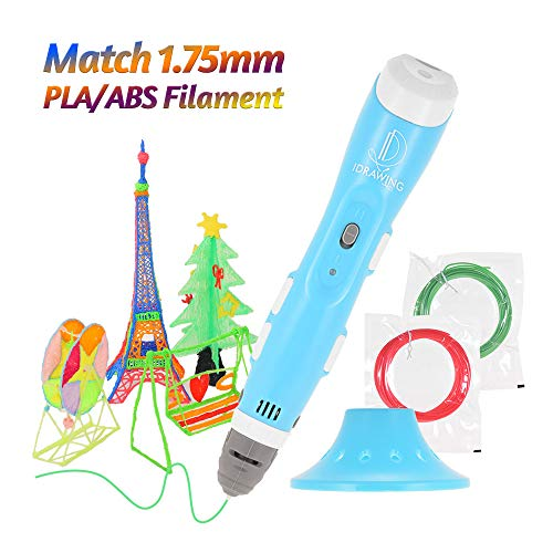 Aibecy Intellectual 3D Printing Pen Non-Clogging Drawing Printer with Pen Guard and USB Cable Bonus PLA/ABS Filaments Best Gift for Children Adults Arts Crafts DIY