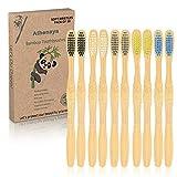 Cepillo De Dientes De Bambú Para Adultos, 10...