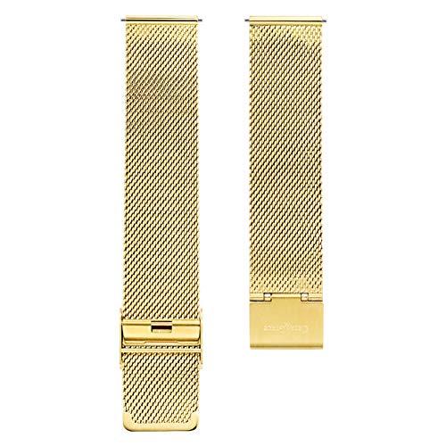 Cara & Grace Premium Uhrenarmband Edelstahl Mesh in Gold 20 mm