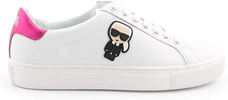 Karl Lagerfeld Women's KL161030121 White Leather Sneakers