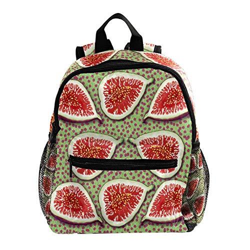 Mochila de higos para niños y niñas, mochila escolar para guardería preescolar para niños y niños, bolsa de viaje