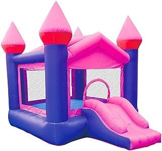 YBWEN Castillos hinchables Inflable Castillo Inflable Trampolín Combinación de Diapositivas de los niños pequeños de Interior y al Aire Libre Trampolín Castillo Inflable