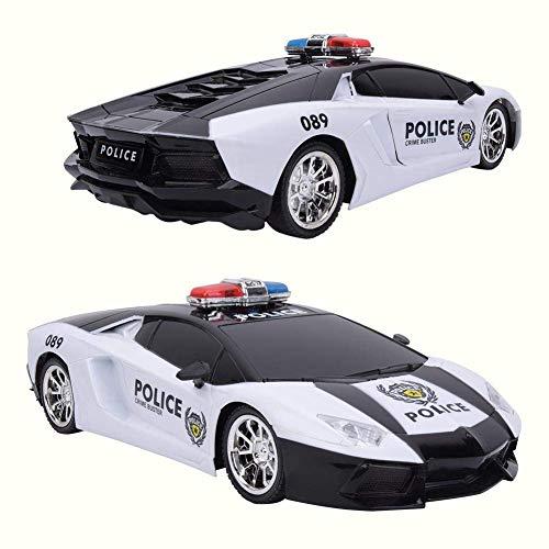 AYDQC Vehículo Cop de Rescate de Emergencia, 3-5 Metros de Control Remoto Modelo de Coche, de Alta Velocidad niñas y niños for Niños Adolescentes Adultos fengong