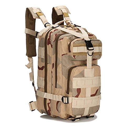 Sac à Dos Tactique, Sac de Randonnée Backpacks Camouflage Militaire Sac d'Alpinisme Camping Voyage Sac Classique(Type 6),25L