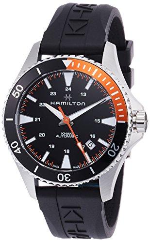 Hamilton Khaki Scuba Auto / orologio uomo / quadrante nero / cassa acciaio / cinturino caucciù nero