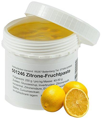 Hobbybäcker Zitronen-Fruchtpaste ► Zum Verfeinern von Eis, Pralinen, Desserts & Tortencremes, Fruchtig & Frisch, 250g