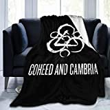 Puriver Coheed and Cambria Fleece Blanket, Ultra Soft Knitted Reversible Cosy Warm Luxurious Plush 80'' x60