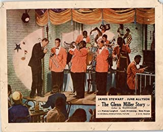 THE GLENN MILLER STORY ORIG LOBBY CARD JAMES STEWART LOUIS ARMSTRONG ORCHESTRA