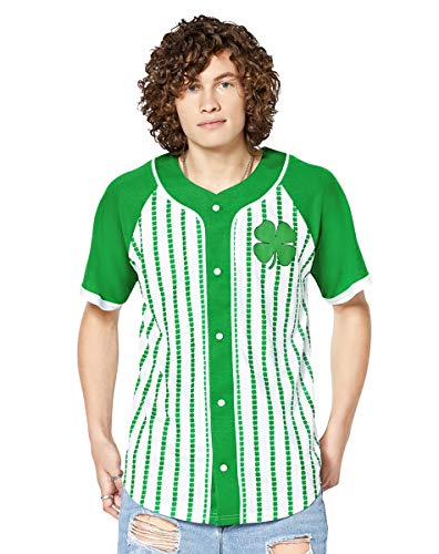 Green Shamrock St. Pat's Drinking Team Jersey - XL