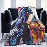 YJWLO Cavalier King Charles Spaniel Perro brillante colorido cálido manta manta para cama sofá silla sala de estar 127 x 101 cm