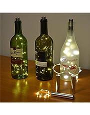 ONEVER Lichtsnoer op batterijen werkende fles licht LED kurkvorm lichtketting voor bistro wijnfles Starry Bar Party Valentijnsdag