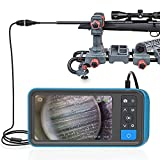 Rifle Borescope with Screen, Teslong 0.2inch Digital Gun Barrel Bore Scope with 4.5inch IPS Color Display, Close-Focusing Camera, Side-View Mirror, 36inch Flexible Cable, Carrying Case