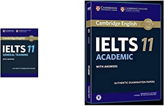 Cambridge English: IELTS 11 General Training with Answers (With Audio CD) + Cambridge English: IELTS 11 Academic with Answers (Set of 2 Books)